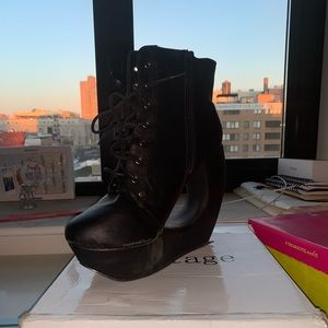 Leather Black Booties